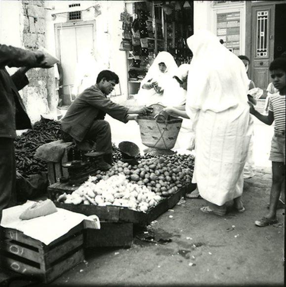 Roberto Berardi, La medina di Tunisi. (©Fondo R. Berardi, Biblioteca di Scienze Tecnologiche Architettura)