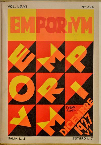 """""""Emporium"""", rivista mensile illustrata d'arte, Lettratura, scienze e Varietà - Copertina di Fortunato Depero"""
