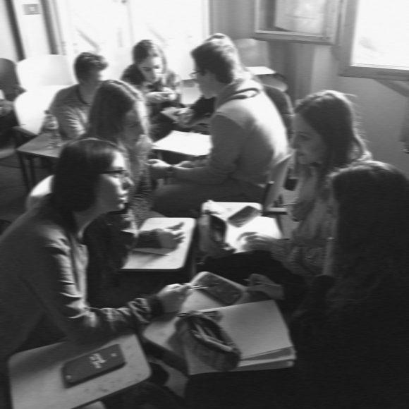 Il gruppo di studenti impegnati nel progetto di alternanza scuola lavoro
