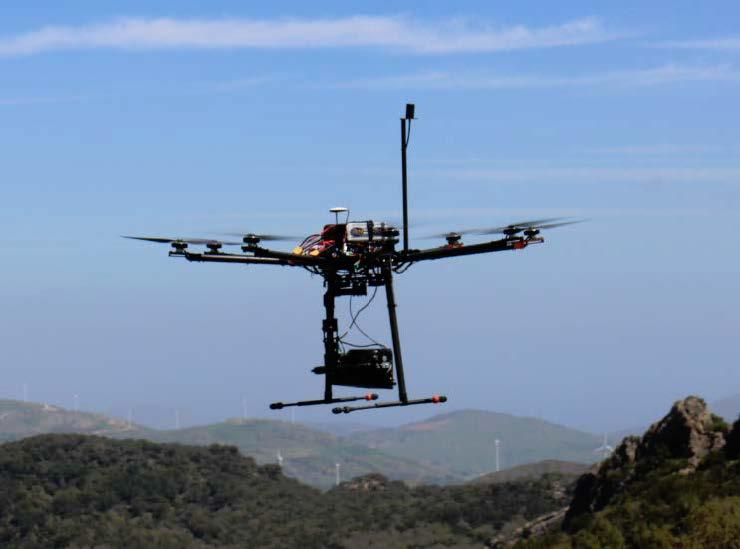 Drone optocottero con sensore LiDAR - Riproduzione riservata Università di Firenze