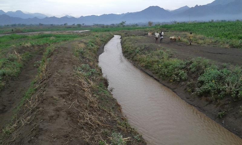 "Canale di irrigazione per deviazione di acque di fiumi stagionali - ""Spate Irrigation"" (Alamata, Regione del Tigrè, Etiopia)"