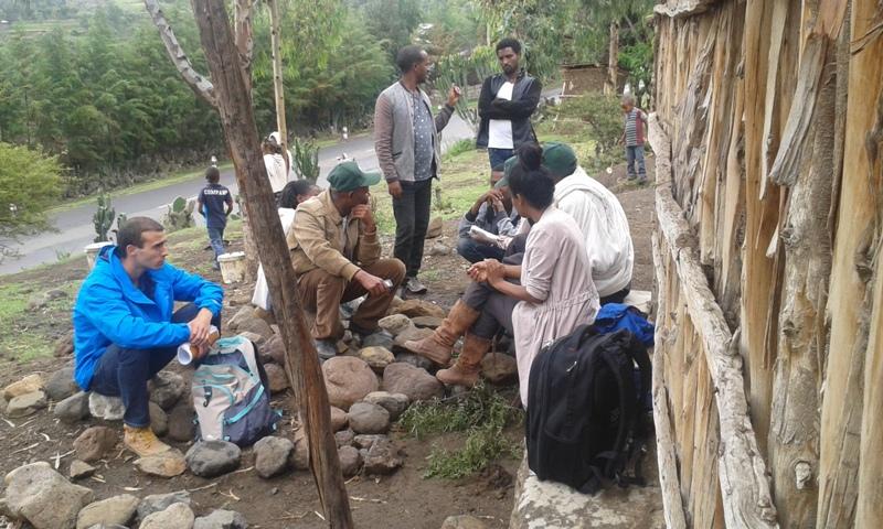 Analisi partecipata dei benefici del water harvesting , insieme a Andrea Minelli e Meron Lakew, allievi Unifi (Maichew, Regione del Tigrè, Etiopia)