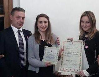 foto padre di Lucrezia Borghi, Marta Iaccarino e Chiara Anselmi