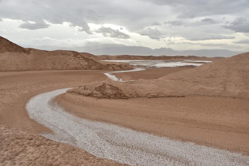 Depositi salini nell'alveo di un corso di acqua episodico (Shafiabad)