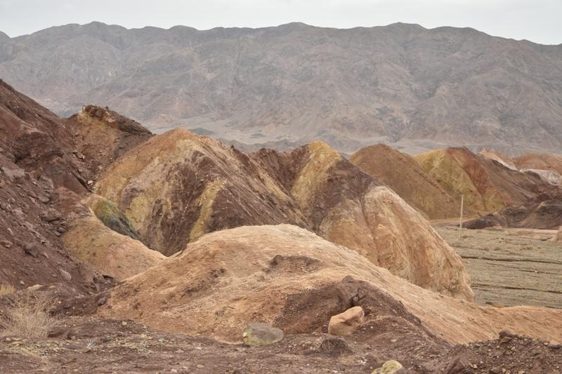 Formazioni rocciose policrome nei dintorni di Hashtadan