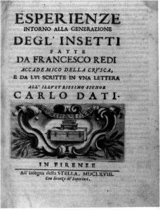 Francesco Redi, frontespizio