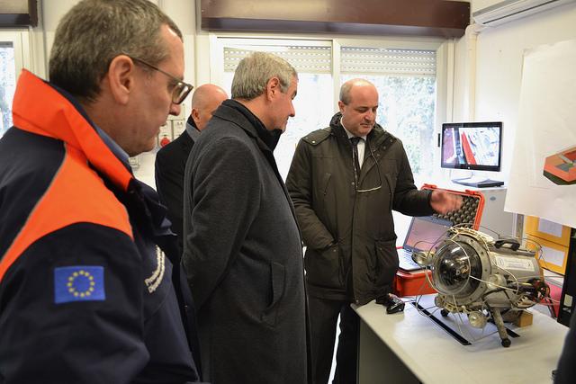 Centro di Protezione Civile, visita del capo del dipartimento Borrelli a Unifi