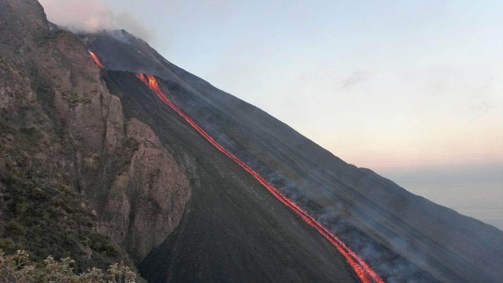 Stromboli, colata di lava