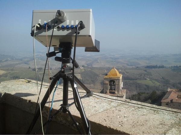 Radar Interferometrico installato sulla Torre Grossa