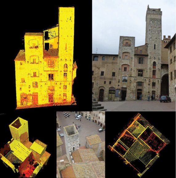 Rilievo laser scanner e foto originali