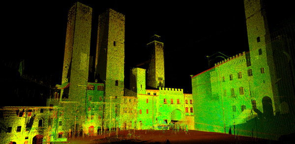 Rilievo laser scanner piazza