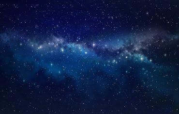 Deep space per alba dell'universo