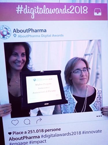 (Da sinistra) Donatella_Panatto_e_Sara_Boccalini_premio_a_Pneumo_Rischio