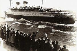 """Il transatlantico """"Conte di Savoia"""", in servizio tra l'Italia e New York fino al 1940 (fonte: https://ssmaritime.com/)"""