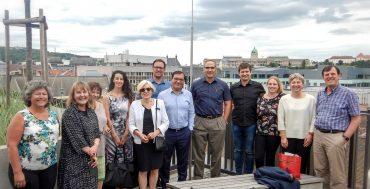 Parte del gruppo di ricerca a Budapest