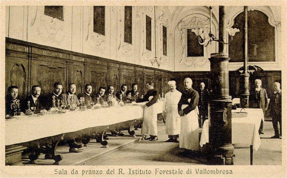 Sala da Pranzo del Regio Istituto forestale. (Foto resa disponibile da Duccio Baldassini)