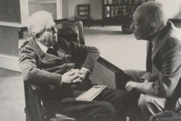 Eugenio Montale con Jorge Luis Borges, Milano, aprile 1977