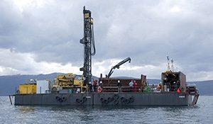 Piattaforma di carotaggio sul lago di Ohrid (ICDP deep drilling campaign) da Bertini et al., 2016 AMQ