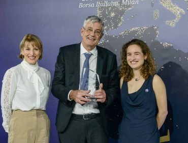 Da sinistra, l'Ambasciatore britannico Jill Morris, David Burr, il Console Generale UK Catriona Graham.