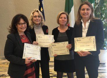 Le ricercatrici presenti a Milano: Benedetta Nacmias, Anna Linda Zignego, Rossella Marcucci, Daniela Massi