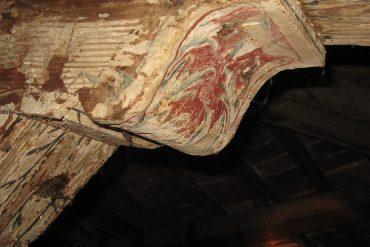 una capriata decorata di Villa Rucellai