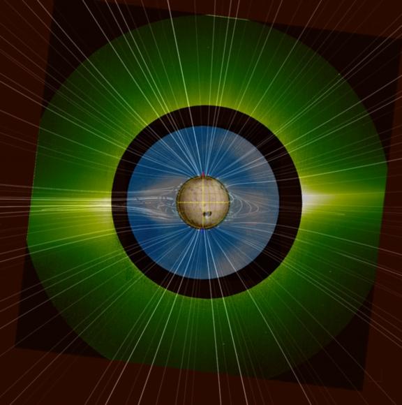 FOTO Solar Orbiter/Metis Team/ ESA & NASA; Mauna Loa Solar Observatory/HAO/NCAR/NSF; Predictive Science Inc./NASA/NSF/AFOSR; NASA/SDO/AIA