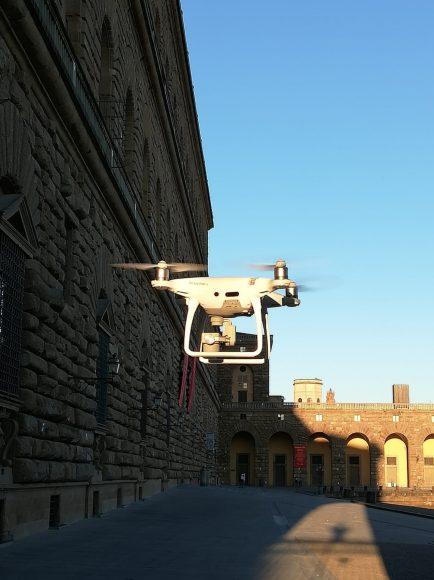 Il drone usato dal Laboratorio GeCo per i rilievi