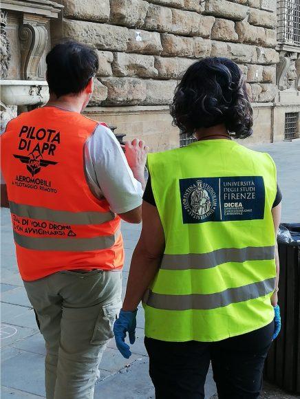 Operatori al lavoro per l'avvio dei rilievi