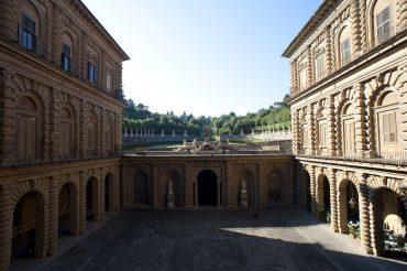 Il cortile dell'Ammannati a Palazzo Pitti