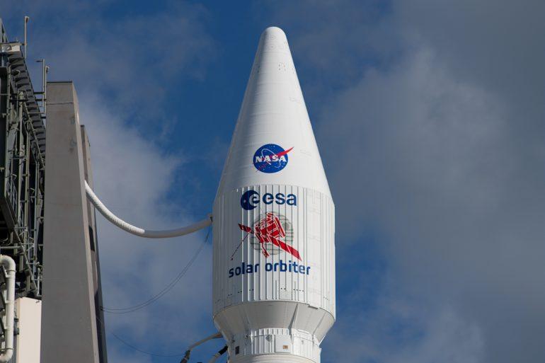 Solar Orbiter al momento del lancio a febbraio_FOTO ESA–S. Corvaja