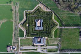 immagine dall'alto fortezza settagonale geotecnologie