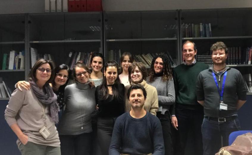 Il gruppo di ricercatori coordinato da Minunni, prima da sinistra