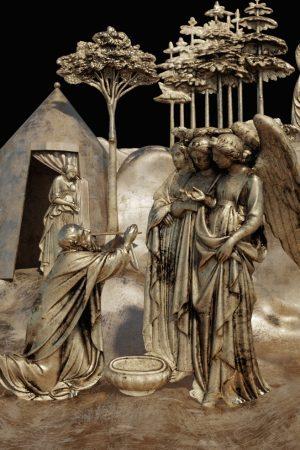 Elaborazione digitale del modello 3D di una delle formelle della Porta del Paradiso di Lorenzo Ghiberti (a cura del CHMLab|Dipartimento di Architettura Unifi)