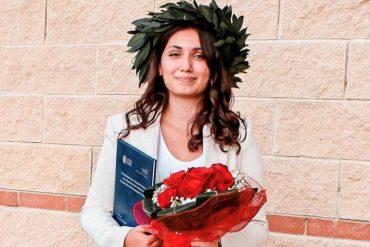 Ottica, Enxhi Rrutja, il giorno della laurea