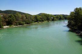 Il fiume Tevere presso Magliano Sabina resilienza