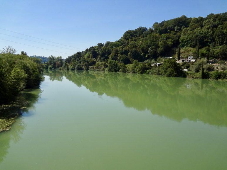 Il tratto del fiume presso Torrita Tiberina