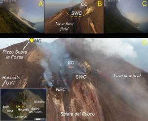 Le eruzioni parossistiche dell'estate del 2019 a Stromboli
